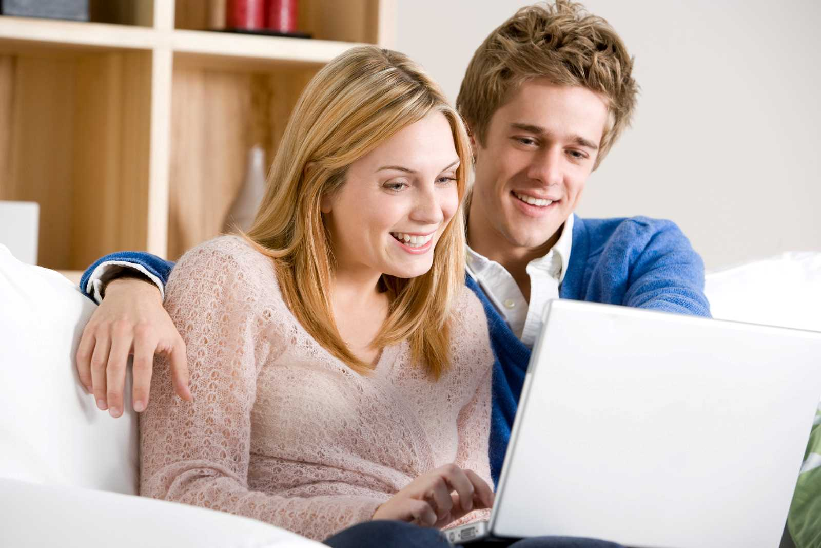 Young couple applying for a loan