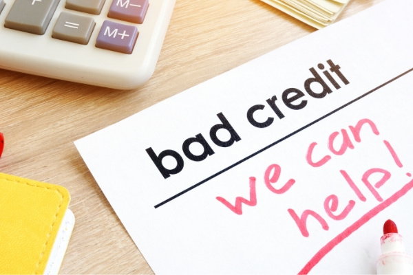 Document bad credit with sign we can help