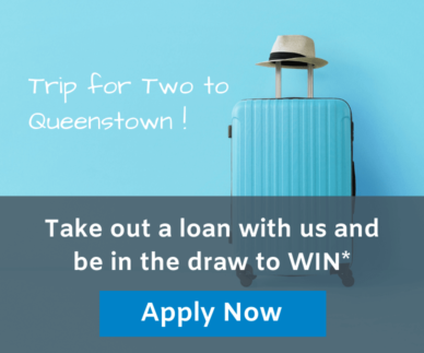 """blue suitcase and blue hat with """"apply now"""" button"""
